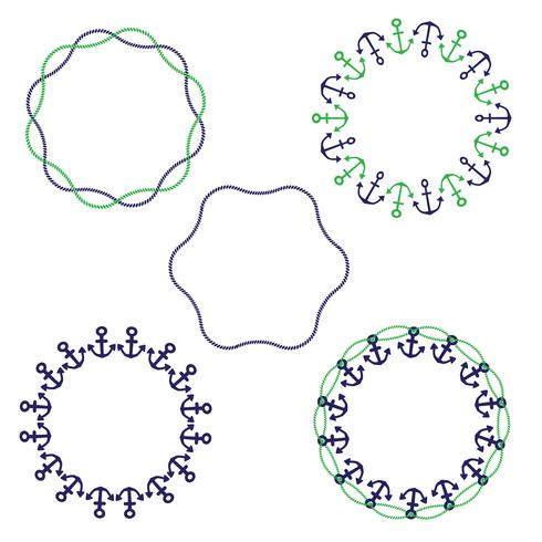 nautische kreisförmige Rahmen