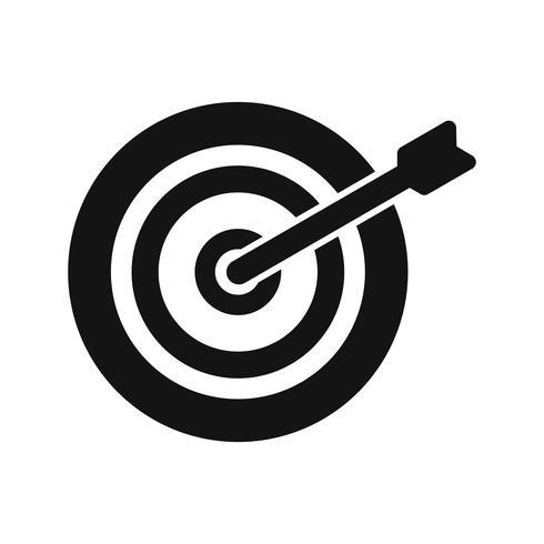 Bullseye-Ikonen-Vektor-Illustration vektor