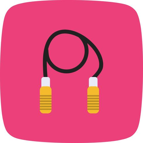 Jumping Rope Icon Vector Illustration