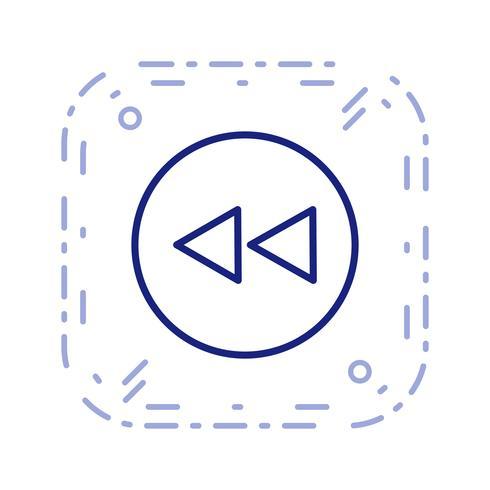 Terug pictogram vectorillustratie