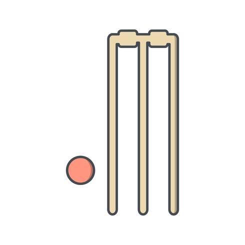 Icono de Cricket ilustración vectorial vector