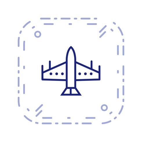 Vector icono de avión de combate