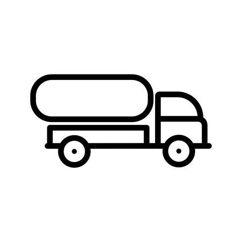 Ícone de caminhão de tanque de vetor