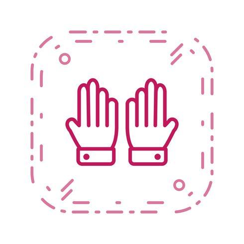 Icono de guantes ilustración vectorial
