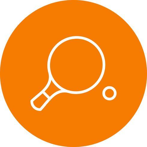Illustration vectorielle d'icône de ping-pong