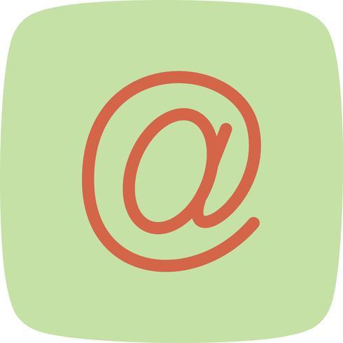 Vector icono de dirección de correo electrónico