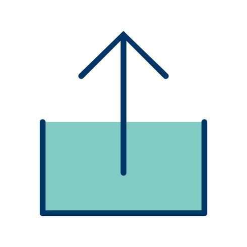 Upload Icon Ilustração Vetorial vetor