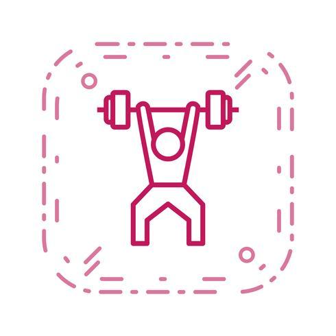 Icono de levantamiento de pesas ilustración vectorial vector