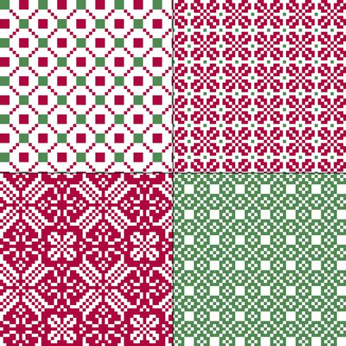small seamless nordic geometric patterns vector