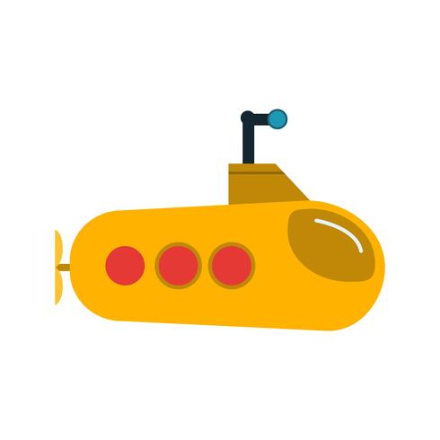 Vector icono submarino