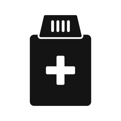 Ícone de garrafa de medicamento de vetor