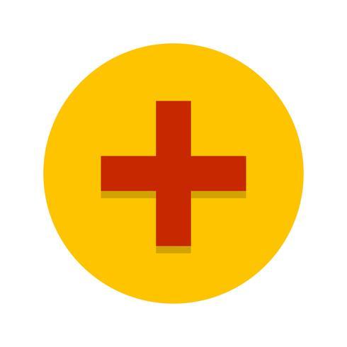 Icône de signe médical de vecteur