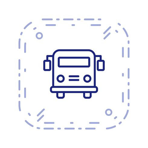Vector School bus Icon