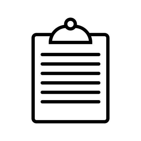 Icône de presse-papiers de vecteur