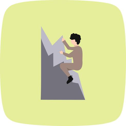 Climbing Icon Vector Illustration