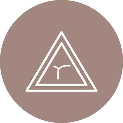 Vektor-Kreuzung der Biegung voraus Verkehrsschild-Symbol
