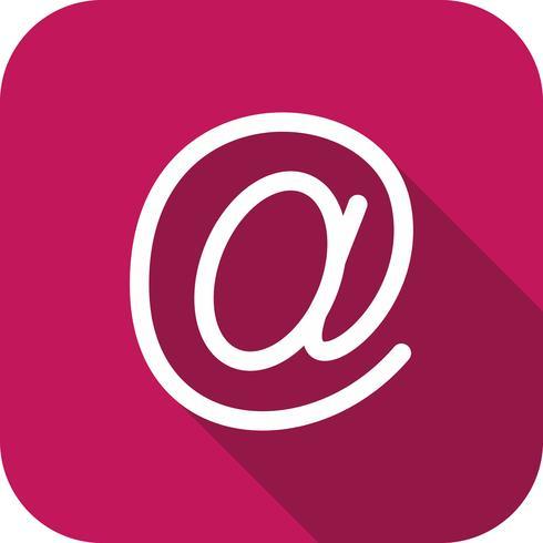 vektor e-postadressikon