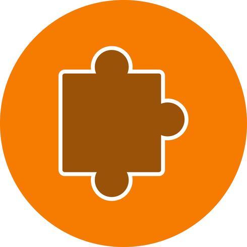 Vector puzzel stuk pictogram