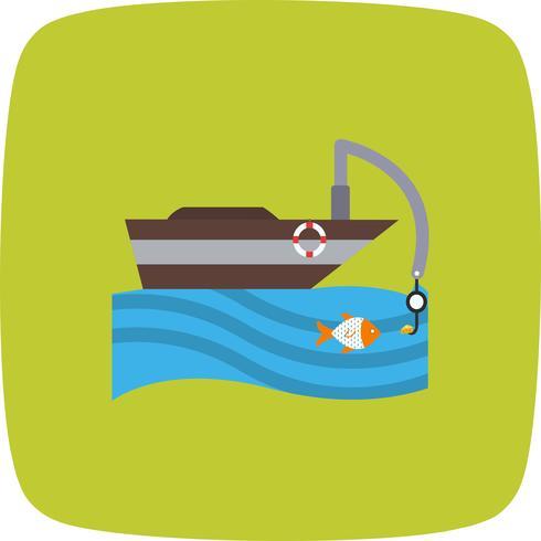 Icona del peschereccio vettoriale