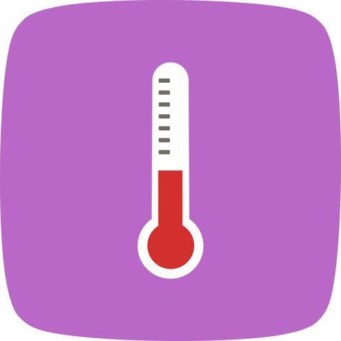 Vector icono de termómetro