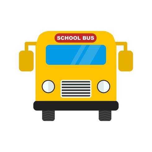 Icona di vettore School bus
