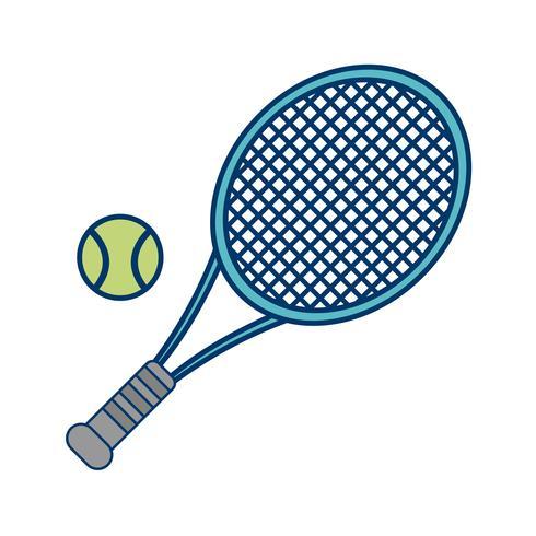 Tennis pictogram vectorillustratie