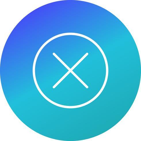 Cancelar icono de ilustración vectorial