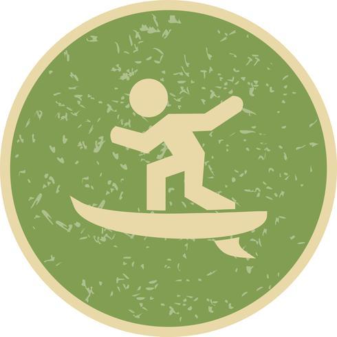 Surf Icon Vector Illustration