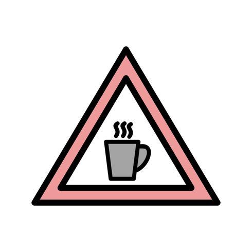 Vector de cafetería icono de signo de carretera