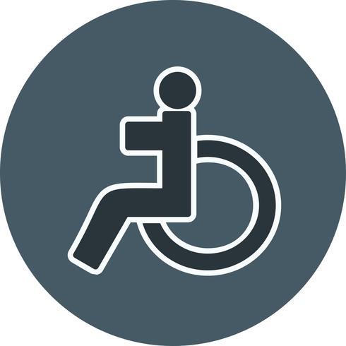 Vetorial, deficiente, ícone