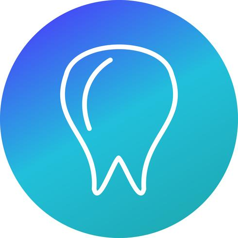 Vektor-Zahn-Symbol