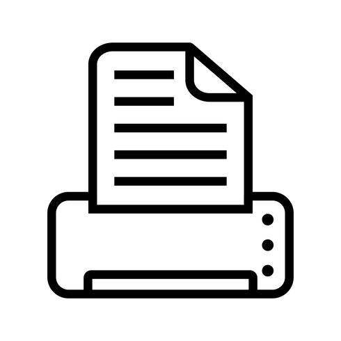 Vector icono de impresión