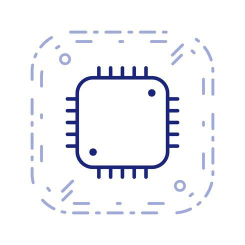 Procesador icono ilustración vectorial