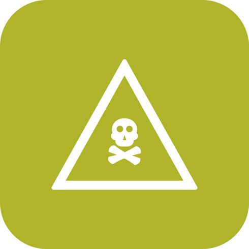 Vector icono de signo de carretera de gas venenoso