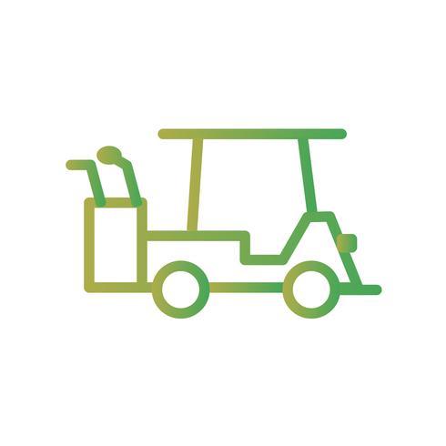 Vector icono de carrito de golf