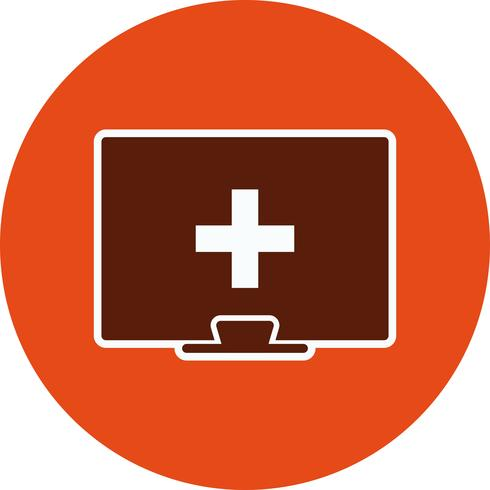 Ícone de ajuda médica on-line de vetor