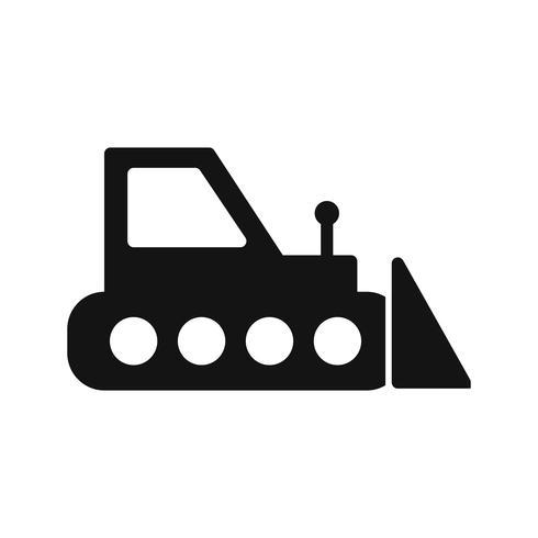 Vektor-Bulldozer-Symbol