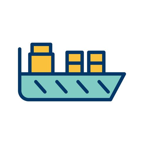 Vector schip pictogram