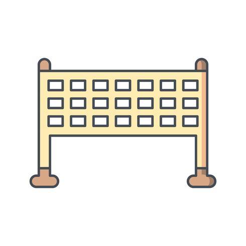 Netto pictogram vectorillustratie