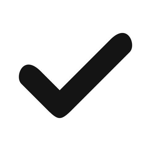 Vector geldige pictogram