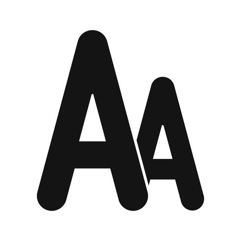 Vector lettertype pictogram