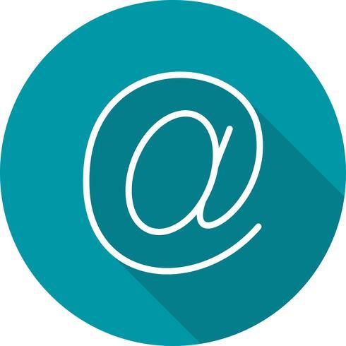 Ícone de endereço de email de vetor