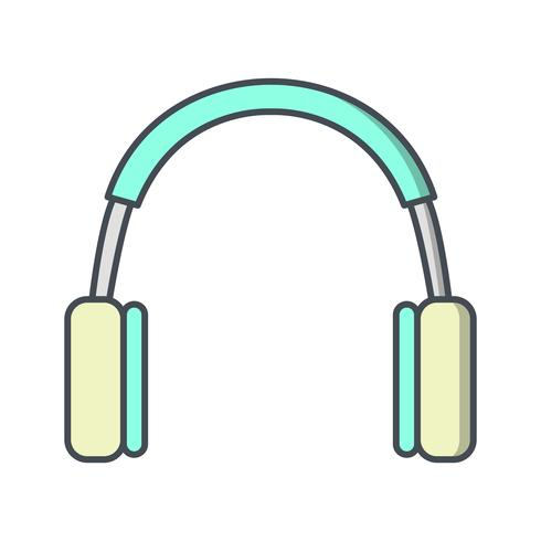 Illustrazione di vettore dell'icona delle cuffie