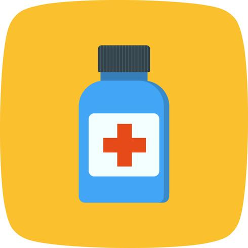 Vector icono de botella de medicina