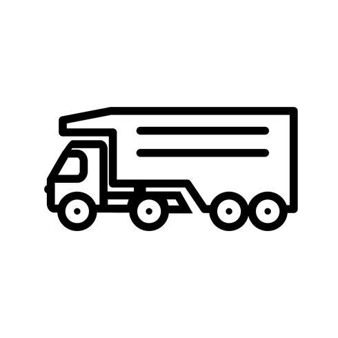 Icono de camión volquete vector