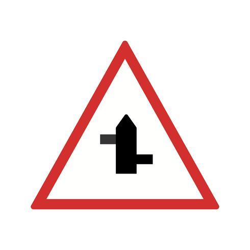Vector Kleine kruispunten van links naar rechts Road Sign Icon