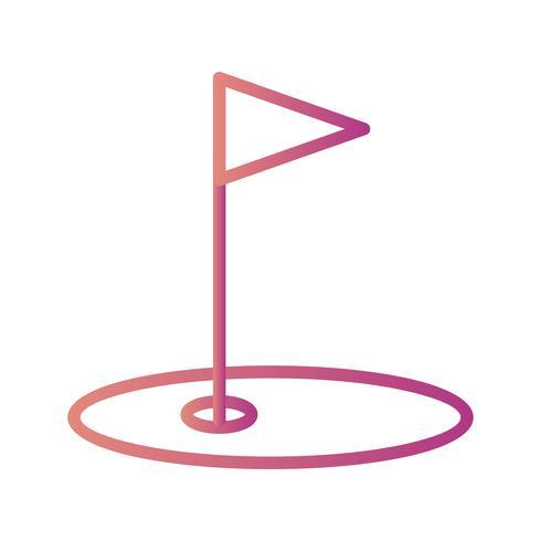 Golf ikon vektor illustration