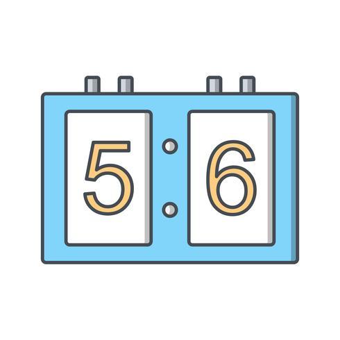 Scorebord pictogram vectorillustratie