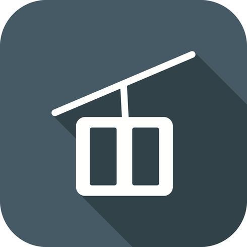Vector telesilla icono