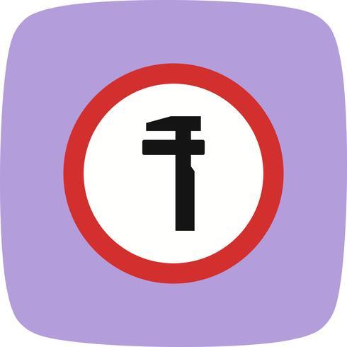 Vektor avbrott Service Road Sign Icon